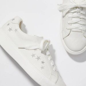 Ann Taylor Loft Shimmer Star Embroidered Sneakers
